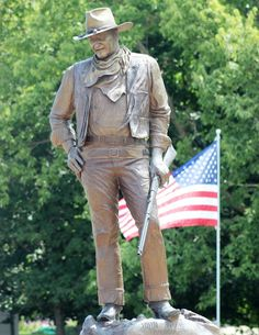 "John Wayne Birthplace / Statue - The Duke left Winterset with his family at the age of 4. via - ""You Really Ought to Give Iowa a Try"" -- Travel Recap"