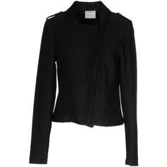 Vero Moda Blazer (€45) ❤ liked on Polyvore featuring outerwear, jackets, blazers, black, short-sleeve blazers, zip jacket, zipper jacket, blazers jersey and vero moda jackets
