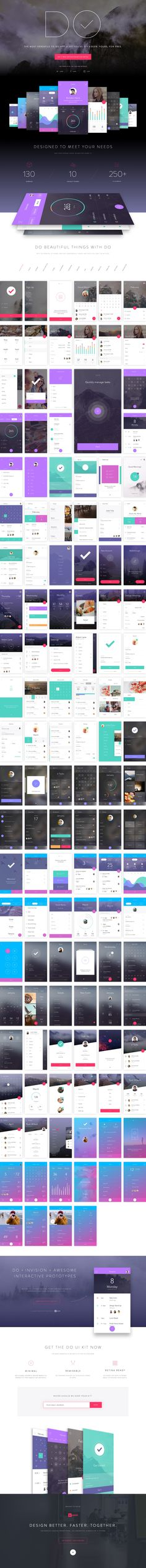 Loves Data Loves || Get DO UI Kit for Photoshop & Sketch by Anton Aheichanka | #UI #userinterface #app 어플에 관련된 gui이다. 어플 디자인을 할때 많이 도움이 될것같다.