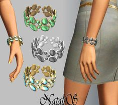 NataliS bracelet with gems. Found in TSR Category 'Sims 3 Bracelets' Girls Dresses, Flower Girl Dresses, Sims 4 Custom Content, Sims Cc, Bangles, Bracelets, Bridal Rings, Bridal Gowns, Jewelry Accessories