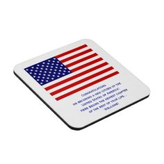 American Citizenship Flag Cork Coaster Set by Mug Designs by Janz