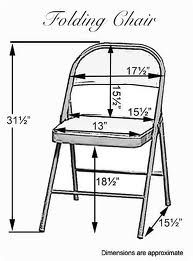 Folding chair dimensions for sashes