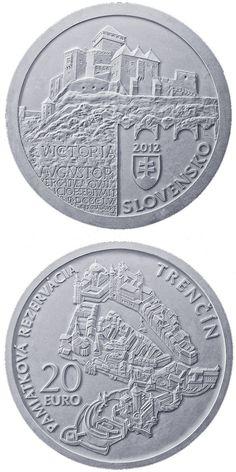 Trencin Castle Slovakia  _ Commemorative Silver Coins 2012