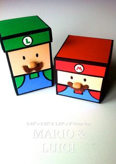 Mario and Luigi Favor Boxes.