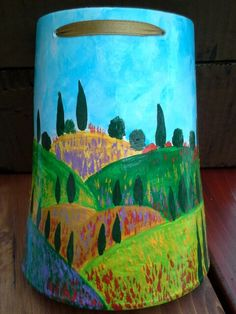 Hand painted tegole inspired by Toscana. Made by noiikacollection