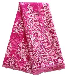 Find More Lace Information about 2016 fushia pink french net lace guipure african sequin lace fabric high quality nigerian tulle lace for dresses,High Quality lace garden,China lace bodice Suppliers, Cheap lace fabric blue from Phil fabric store on Aliexpress.com