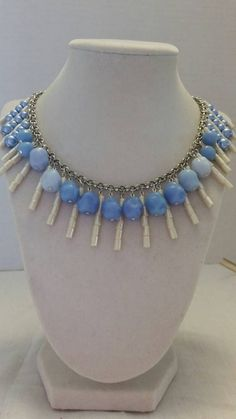 Check out this item in my Etsy shop https://www.etsy.com/listing/216600738/periwinkle-necklace-blue-necklace-cream