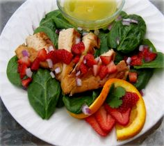 Chicken and Strawberry Salad Hcg Recipe | Hcg For You