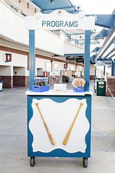 Baseball wedding use the stadiums program to distribute your own wedding programs, bubbles/seeds and anything else you're handing out to guests preceremony