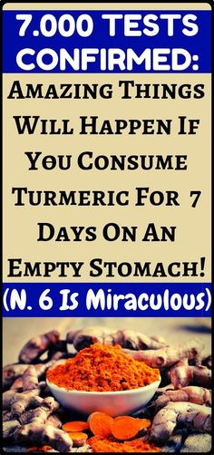 Studies have now confirmed: This is what happens when if your drink turmeric water for a week on an empty stomach...