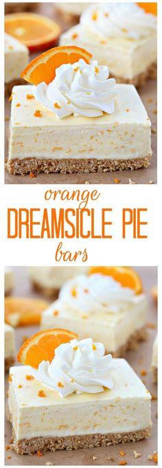 Orange Dreamsicle Dessert Bars on MyRecipeMagic