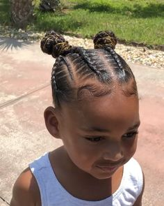 Best Picture For little baby girl hairstyles For Your Taste You are looking for something, and it is Black Baby Girl Hairstyles, Mixed Baby Hairstyles, Toddler Braided Hairstyles, Little Girl Braid Hairstyles, Little Girl Braids, Natural Hairstyles For Kids, Braids For Kids, Natural Hair Styles, Hairstyle Short
