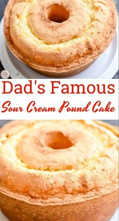 My dad makes the best sour cream pound cake in the world! He's 84 and he'… My dad makes the best sour cream pound cake in the world! He's 84 and he's famous for his pound cake! Just one bite and you'll know why. Food Cakes, Just Desserts, Dessert Recipes, Baking Desserts, Mini Desserts, Easter Recipes, Bunt Cakes, Pound Cake Recipes, Best Pound Cake Recipe Ever