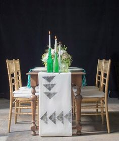 DIY home crafts DIY geometric table runner DIY home crafts