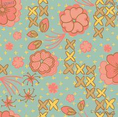 My friend Jessica designed these beautiful fabrics!