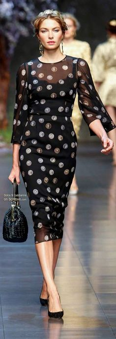 Rosamaria G Frangini | Adorables Dots | Dolce&Gabbana Spring 2014