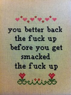 Tupac and cross stitch... That's some classy gangster shit.