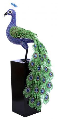 Beaded Peacock. Wow!