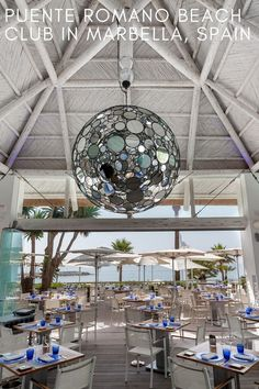 Puente Romano Beach Club in Marbella, Spain