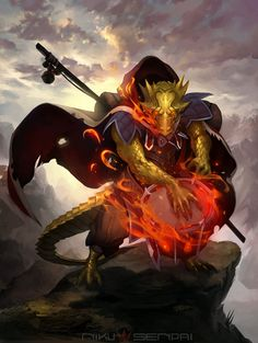 Dragonborn Bard by NikuSenpai on DeviantArt