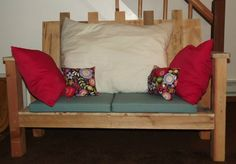 Upcycled pallet couch