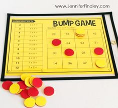 FREE math BUMP games for multiplication and division facts. These partner games are super low-prep and engaging. They work great for math centers, math partner games, and even early finishers.