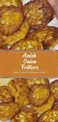 how to fry onions Amish Onion Fritters American food time Amish Recipes, Onion Recipes, Vegetable Recipes, My Recipes, Cooking Recipes, Favorite Recipes, Recipies, Appetizer Recipes, Appetizers