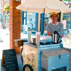 a street vendor in St Martin's Square