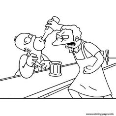 Print moe szyslak simpson Coloring pages