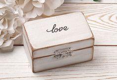 Anillo portador caja caja del anillo de boda por HandmadeDecoupage