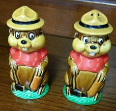 Vintage Beaver with Mountie Hat Salt and by EmptyNestVintage