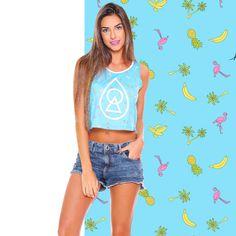 Estampa Tropical desenvolvida para a marca Heir. Encontre em www.heir.com.br