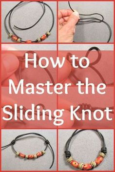 Tying a sliding knot is a little tricky, but it's a great technique to add to your bag of tricks! – how to tie a sliding knot – jewelry making – DIY jewelry Jewelry Knots, Bracelet Knots, Jewelry Clasps, Beaded Jewelry, Handmade Jewelry, Beaded Bracelets, Silver Jewelry, Diy Necklace Clasp, Silver Bracelets