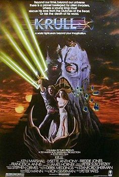 Krull--mix of knights of the round-table, magic and science fiction.  It had potential, but never quite lived up to it.