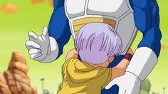 Trunks hugging Vegeta<<<AAAAHHHH!!!! OVERLOAD OF CUTE!!!