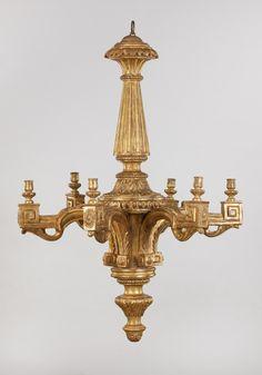 Italian Wooden Louis XVI  Chandelier
