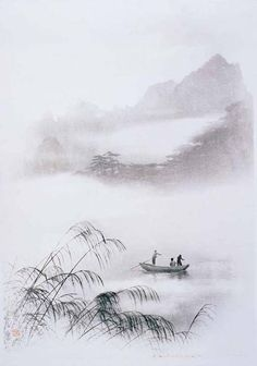 Humeur(s) — poboh: Boating on Misty River, 郎静山 / Lang...