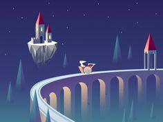 dream by Danli Zhang (Beijing,China) Monument Valley Game, Ios App Design, Isometric Design, App Design Inspiration, Behance, Graphic Design, Illustration, Beijing China, Game Ui