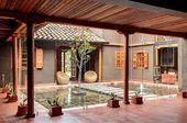 Best Indoor Garden Ideas for 2020 - Modern Indian Home Design, Kerala House Design, Home Garden Design, Village House Design, Village Houses, Chettinad House, Patio Images, Hacienda Homes, Kerala Houses