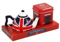 English Tea - Mini Tea Pot and Tea Selection, Union Jack Miniature Teapot with English Breakfast Tea in Miniature Telephone Tin - GP08 English Tea http://www.amazon.co.uk/dp/B00ERC0CKA/ref=cm_sw_r_pi_dp_4dU1ub1JP8NF2