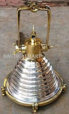 vintage marine hanging cargo wiska spot light brass and aluminium new 1 piece Decor Lighting, Hanging, Nautical, Nautical Decor, Hanging Lights, Wooden Jewelry Boxes, Hanging Ceiling Lights, Hanging Pendant Lamp, Copper And Brass