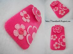 felt crafts | iRaMaKaSeH: hp Case pink