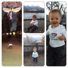 """Gavin in Grand Teton National Park in Jackson Hole, WY He didn't want to smile, he was a crank all afternoon haha. The first few are at the Jackson Town Square and our """"locally famous"""" antler arches, the main one decorated with pink lights in honor of Breast Cancer Awareness Month! Then we went out to Grand Teton National Park (est Feb 26, 1929) which starts about 5 minutes north of town. These were taken in Moose, WY where I grew up about 20 min north of town near Dornans, which is a…"""