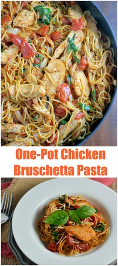 Easy dinner - might try spaghetti squash instead One-Pot Chicken Bruschetta Pasta is a healthy, from prep-to-plate meal using Pronto pasta and pre-cooked chicken strips. Pre Cooked Chicken, One Pot Chicken, Chicken Strips, How To Cook Chicken, Fresh Chicken, Chicken Breast Strips Recipes, Lemon Chicken, Pasta Recipes, Chicken Recipes