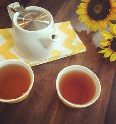 Warm sips for two of our Honeyed Cantaloupe #tea.
