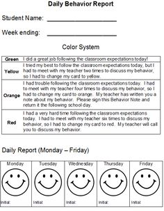 This is the behavior management system I used in my kindergarten class. Included are: Daily Behavior Reports (2 different types), Behavior Note to Parents, Caught Being Good Cards, and Tickets (5 different types)