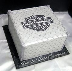 Harley Davidson Themed Grooms Cake | by Graceful Cake Creations