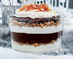 Holiday 2014 Mocha Hazelnut Trifle with Hazelnut Brittle Yummy Drinks, Delicious Desserts, Dessert Recipes, Mocha Recipe, Almond Pound Cakes, Salted Caramel Mocha, Roasted Pear, Frappuccino Recipe, Trifle Recipe