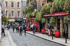 Temple Lane - Temple Bar, Dublin Print by Barry O Carroll Grafton Street, Temple Bar, Dublin City, Beverly Hills, Fine Art America, Instagram Images, Gallery, Photography, Photograph
