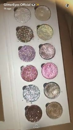 Pressed Glitter & Eyeshadow Pigments in 12 Pan Palette available sooon from our website www.sharenzieessentials.com